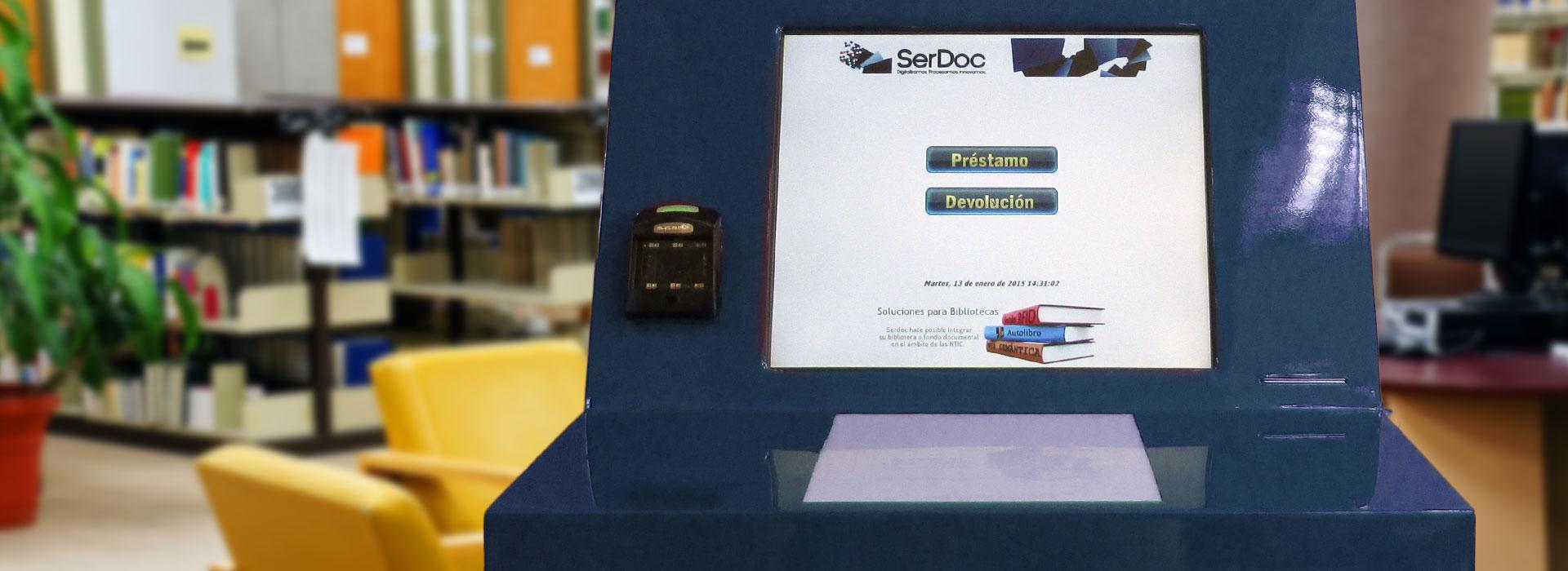 Autopréstamo sin RFID por SerDoc